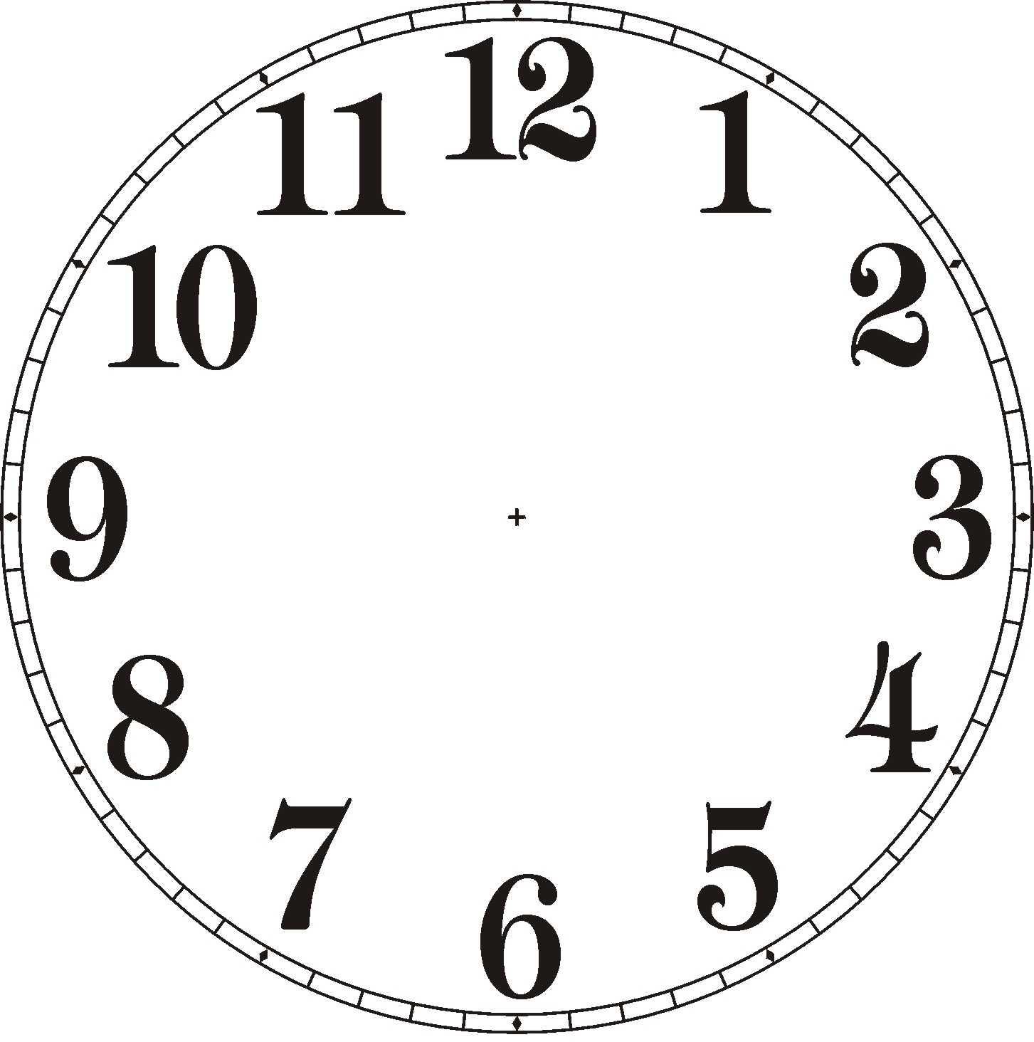 Clipart clock faces.
