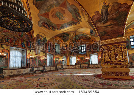 Moscowfeb 22 Interior View Grand Kremlin Stock Photo 139439354.