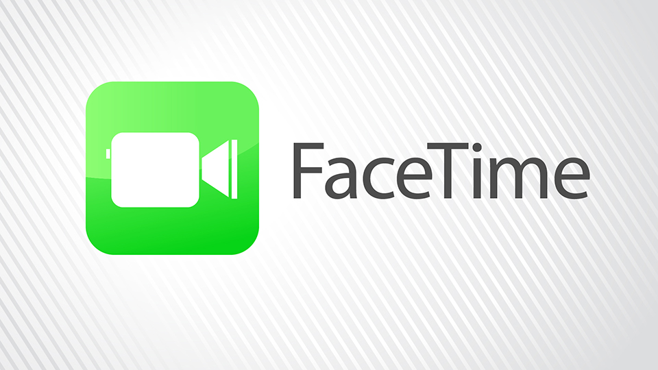 Two people using facetime clipart.