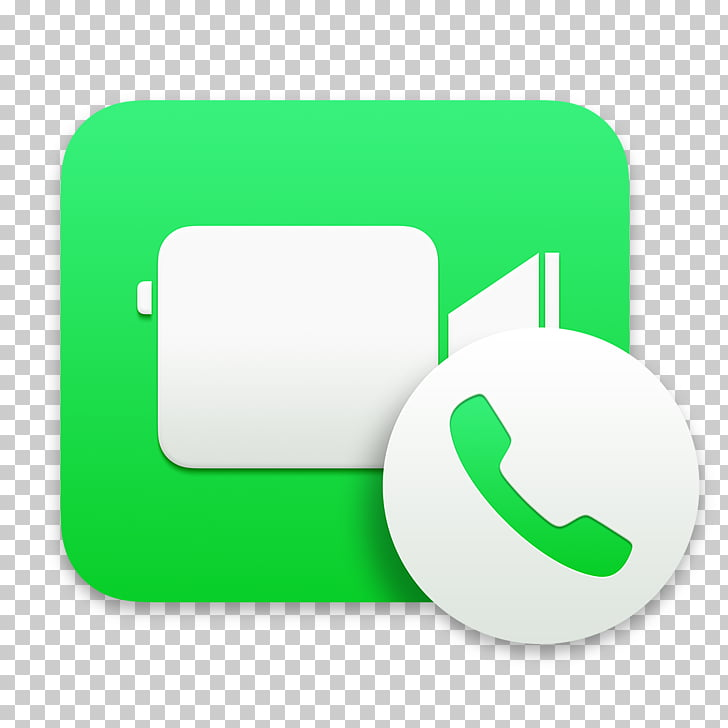 Computer icon material green, Facetime, messenger.