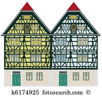 Fachwerkhaus Clip Art and Stock Illustrations. 26 fachwerkhaus EPS.