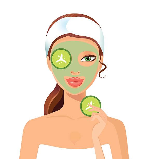 Best Facial Treatment Illustrations, Royalty.
