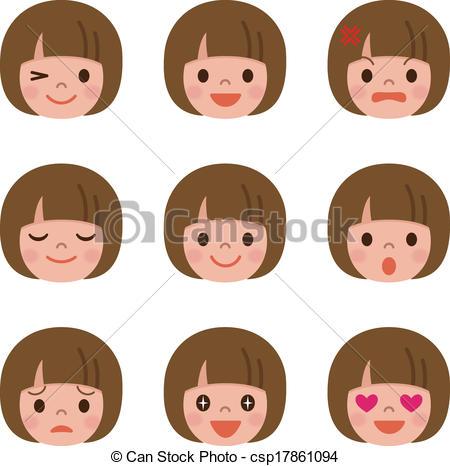 Facial expression Illustrations and Clipart. 21,764 Facial.
