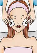 Stock Illustration of Woman receiving a facial u17426128.