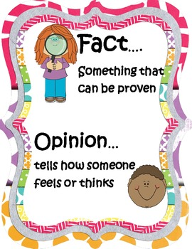 Fact And Opinion Anchor Worksheets & Teaching Resources.