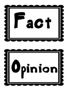 Fact And Opinion Clipart #1.