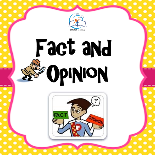 Fact and Opinion Lessons, Worksheets, and Games.