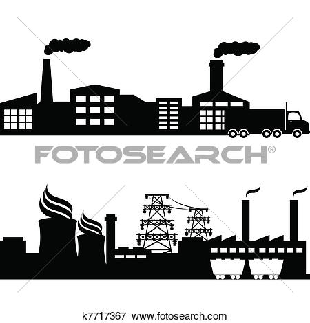 Clipart of Factories and power plants k5770005.