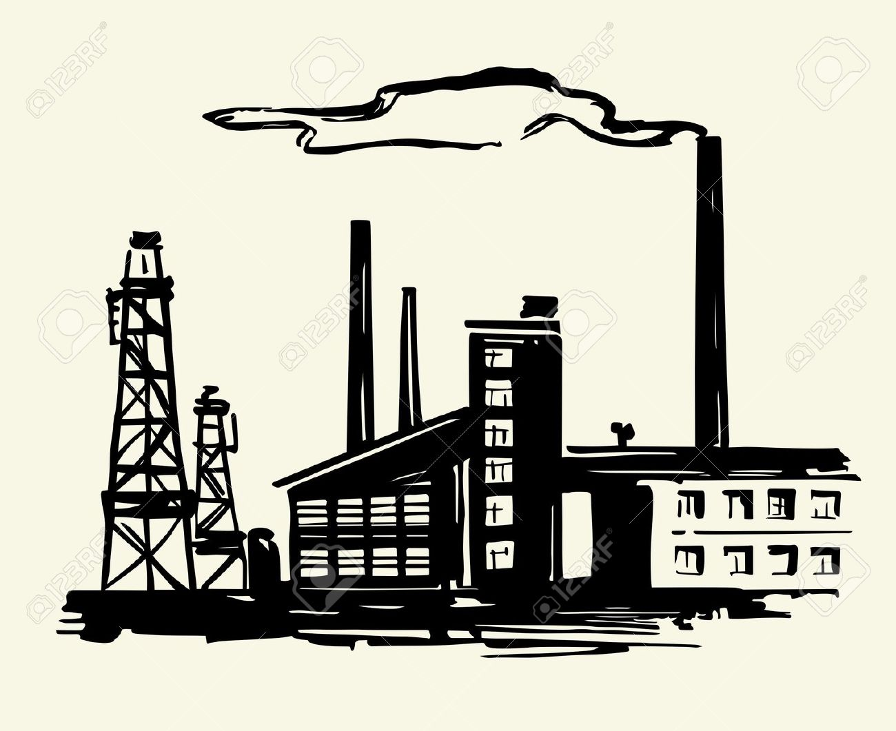 Factories Clip Art.