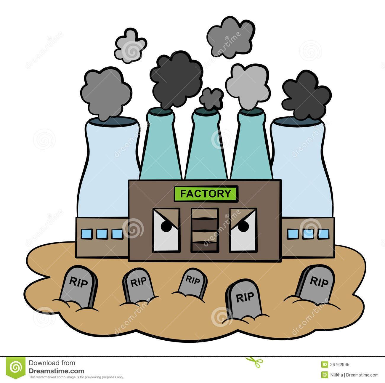 Factories Pollution Clipart.