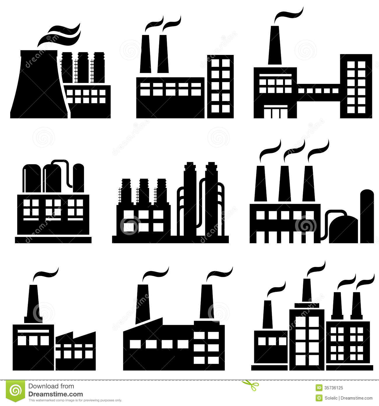 Industrial building clipart.