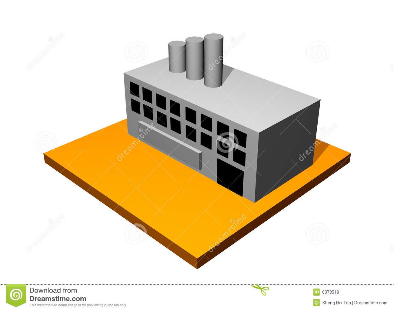 Clipart factory building.