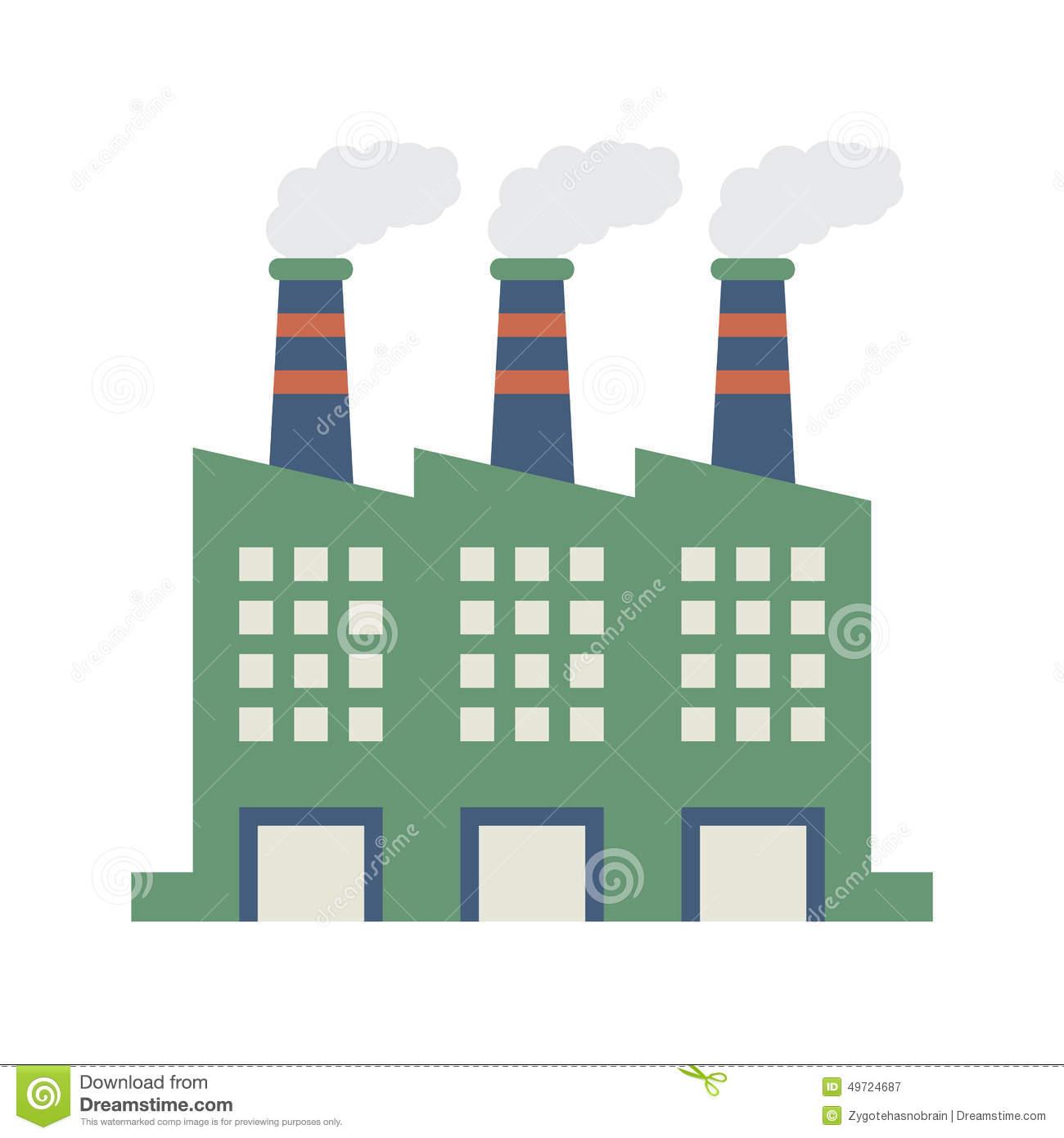 Factory building clipart