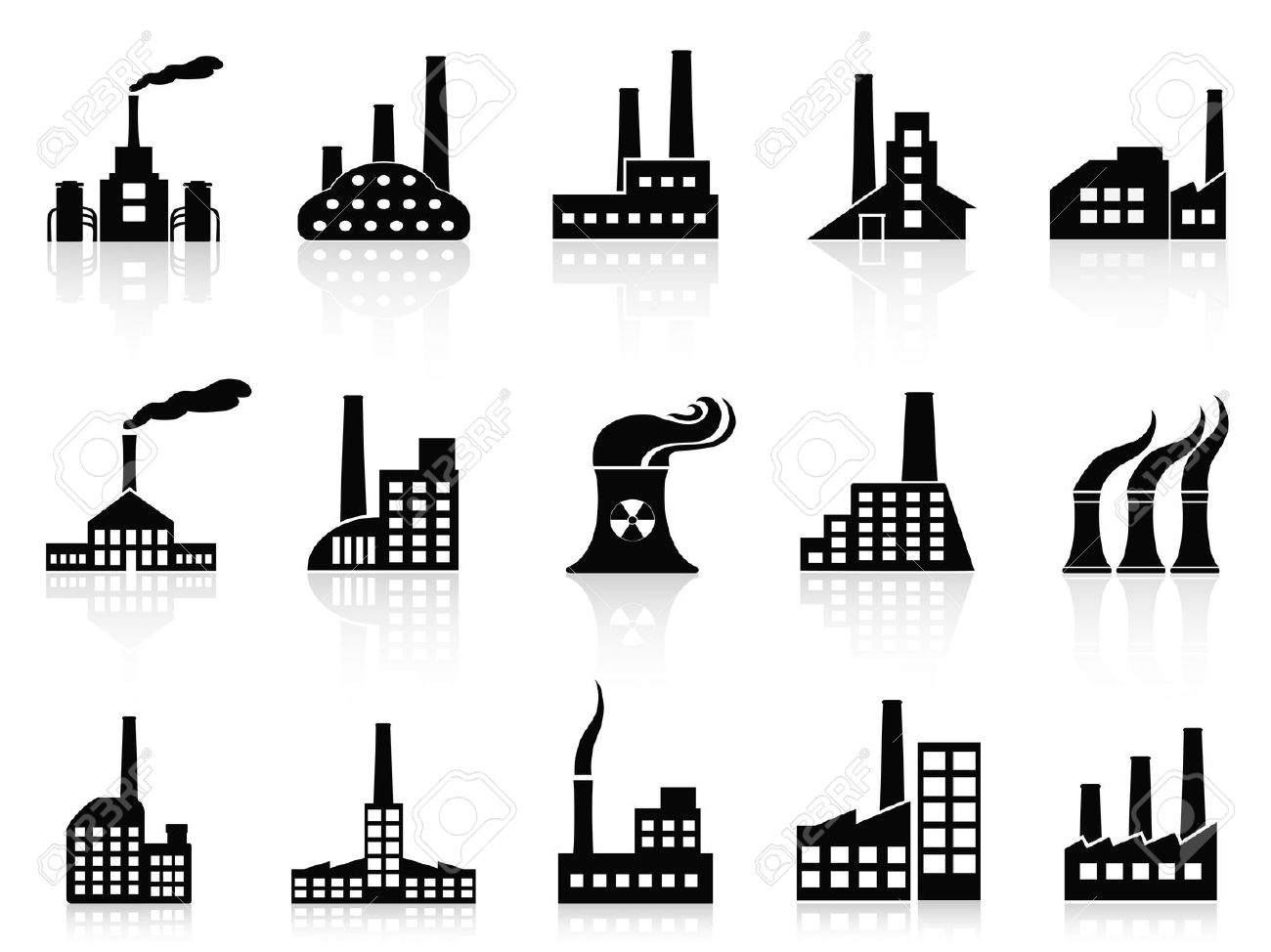 Smoke stacks clipart.