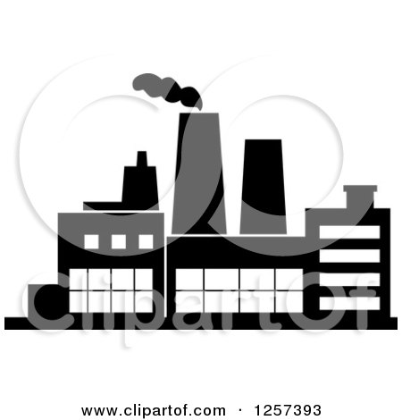 Factory clipart black and white 3 » Clipart Station.