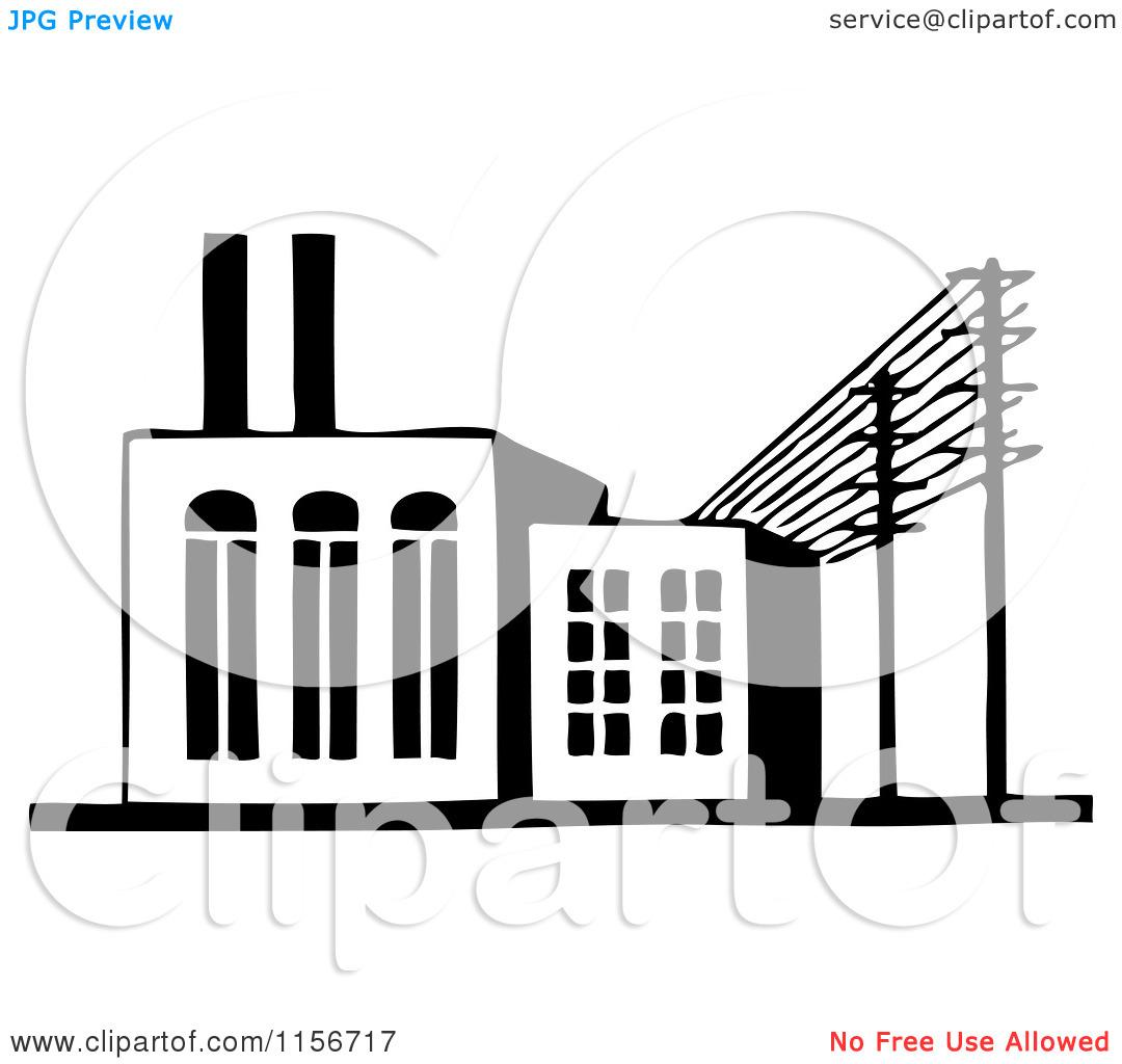 Factory Clipart Vector.