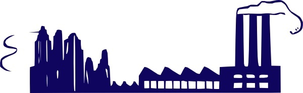 Factory Building clip art Free vector in Open office drawing svg.