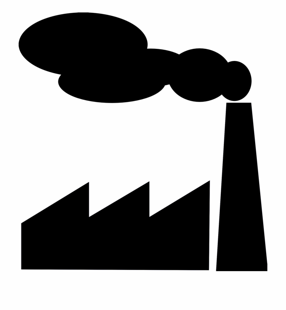 Factory Industry Silhouette Png Image.