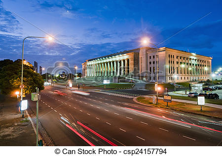 Stock Photographs of Buenos Aires Law Faculty, Argentina.