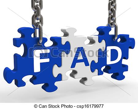 Stock Illustrations of Fad Puzzle Shows Latest Thing Or Craze.