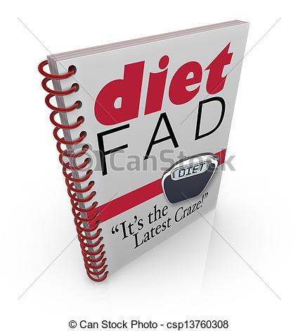 Stock Illustration of Diet Fad Book Dieting Craze Best.