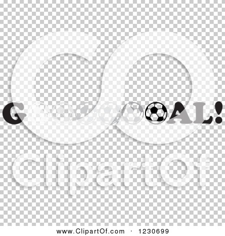 Clipart of a Fade to Dark Soccer Ball in the Word Goal.