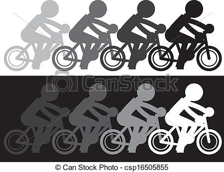 Clipart Vector of Bike Motion Fade.