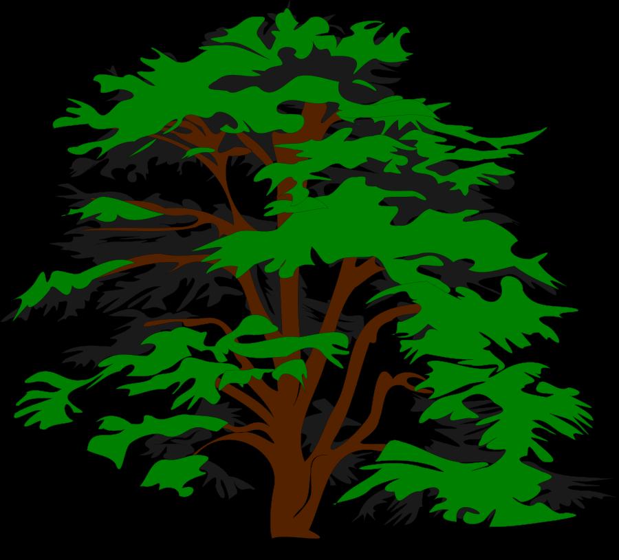 Faded tree clipart.