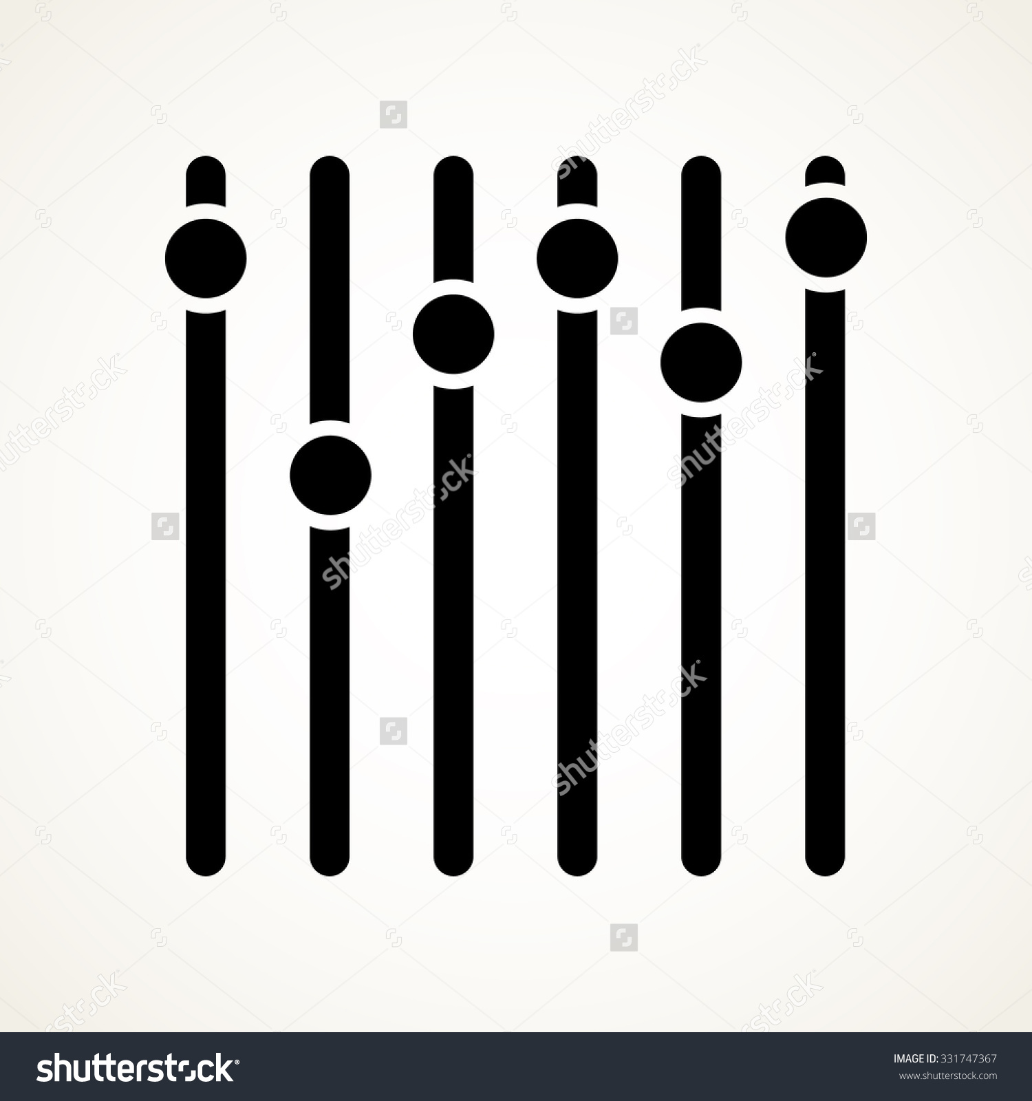 Vertical Sliders Faders Potentiometers Vector Symbol Stock Vector.