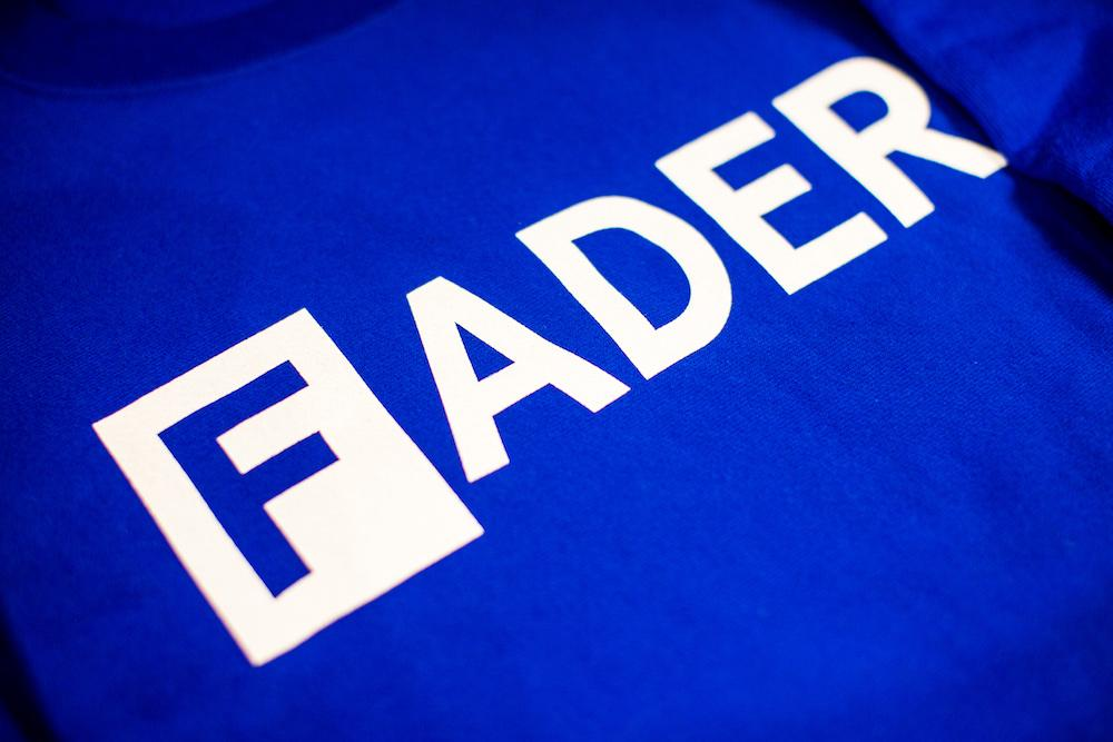 FADER Logo x Champion Crew Neck Sweatshirt (Blue).