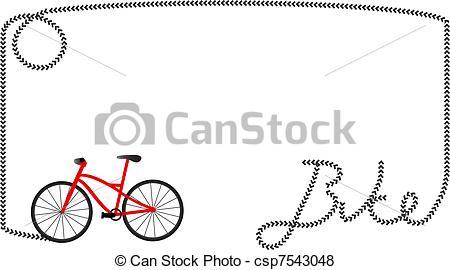 Vektor von Rahmen, Fahrrad.