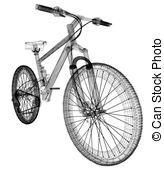 Zeichnungen von draht, Fahrrad, Rahmen, gegenstand, Freigestellt.
