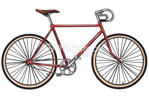 Vektor Roten Fahrrad Vektorgrafik.