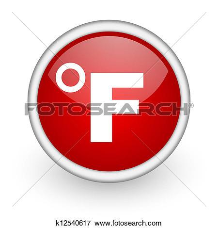 Clipart of fahrenheit icon k14033921.