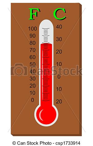 Fahrenheit Thermometer Clipart.