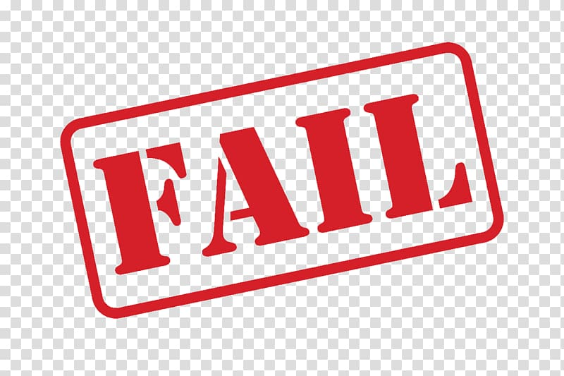 Red fail text, illustration , Fail Stamp transparent background PNG.