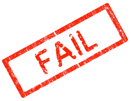Fail Stamp PNG Transparent Images.
