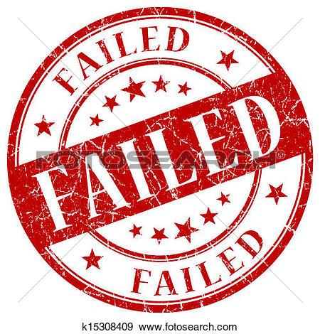 Stock Illustration of Failed stamp k19973808.