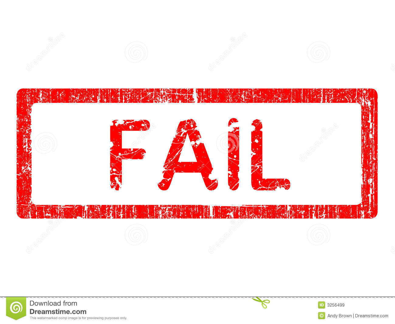 Fail Stock Illustrations.