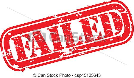 EPS Vector of Grunge failed rubber stamp, vector illustration.