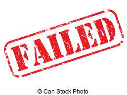 Vector Clipart of Failed Test.