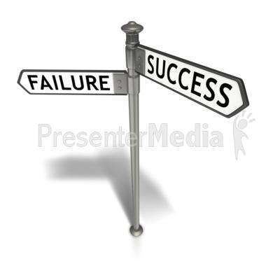 Street Sign Success Failure.
