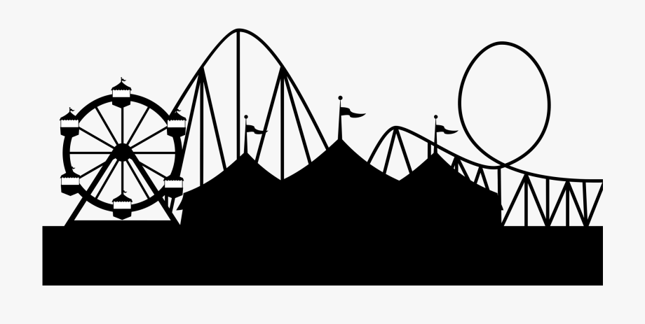 Rollercoaster Clipart Carnival.