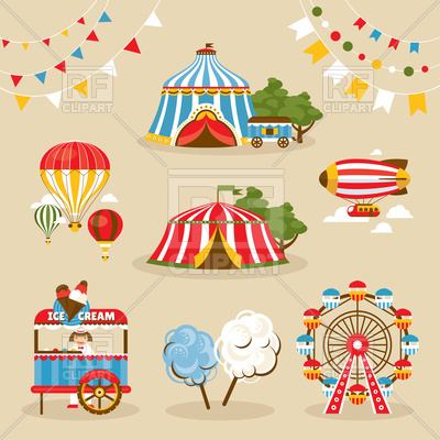 Set of country fair objects Vector Image.