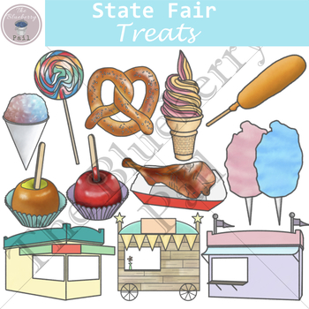 State Fair Treats Clip Art Set.