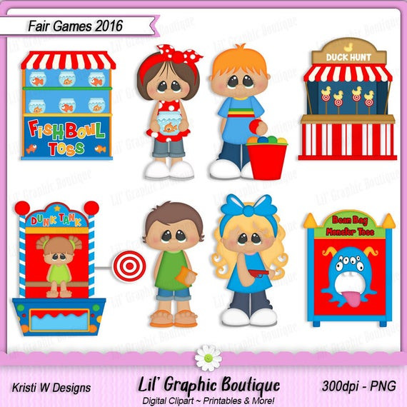 Fair Games 2016 Digital Clip Art Set ~ Graphics Kristi W Designs Personal &  Commercial Use Scrapbooking Clipart.