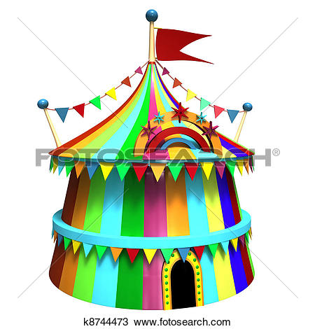Stock Illustrations of Illustration of a circus tent k8355810.