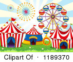 Ferris Wheel with a Balloon Banner Posters, Art Prints by colematt.
