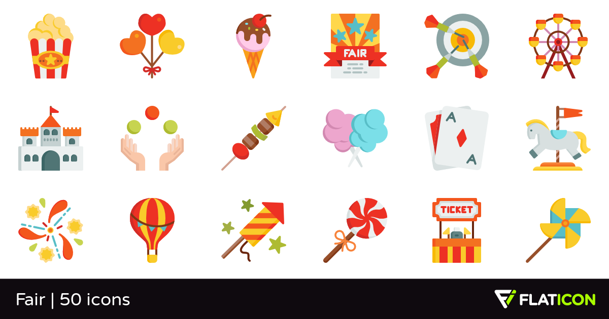 Fair 50 free icons (SVG, EPS, PSD, PNG files).