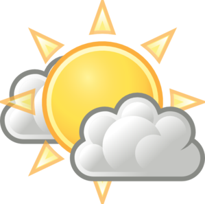 Weather few clouds clip art at clker vector clip art.